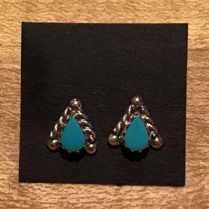 Jewelry - NWOT Handmade Sterling Silver Turquoise Earrings